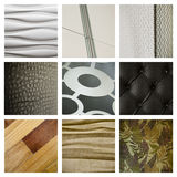 A collage of interior details. Stock Photos
