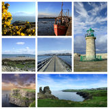 collage ireland Arkivbild