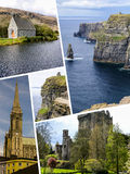 Collage of Ireland images my photos Royalty Free Stock Photos