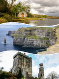 Collage of Ireland images my photos Royalty Free Stock Photo