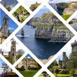 Collage of Ireland images my photos. Royalty Free Stock Image
