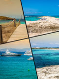 Collage of island Formentera, Spain. Europe Royalty Free Stock Image