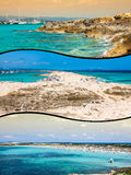 Collage of island Formentera, Spain. Europe Royalty Free Stock Photos