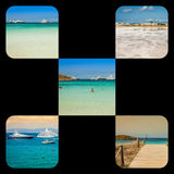 Collage of island Formentera, Spain. Europe Stock Photo