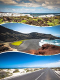 Collage of island Lanzarote, Spain. Europe Stock Photography