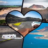 Collage of island Lanzarote, Spain. Europe Stock Image