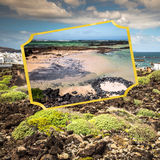 Collage of island Lanzarote, Spain. Europe Royalty Free Stock Photo