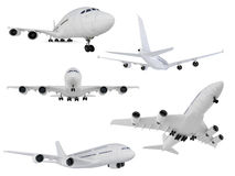 Collage of isolated airplane Royalty Free Stock Photography