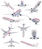 Collage of isolated airplane Royalty Free Stock Photos