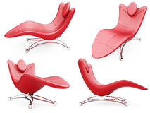 Collage of isolated armchairs Stock Photo