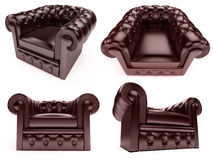 Collage of isolated armchairs Royalty Free Stock Images