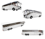 Collage of isolated bus Stock Photography