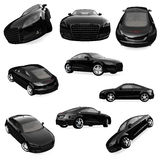 Collage of isolated car Stock Photo