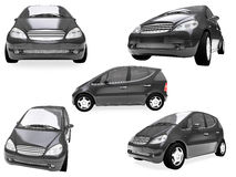 Collage of isolated car Royalty Free Stock Photo