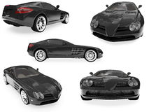 Collage of isolated car Royalty Free Stock Images