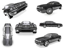 Collage of isolated car Stock Photos