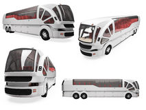 Collage of isolated concept bus Stock Photography