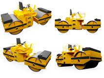 Collage of isolated construction vehicle. Isolated collection of construction vehicle over white background Royalty Free Stock Image
