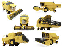 Collage of isolated construction vehicle. Isolated collection of construction vehicle over white background Stock Photos