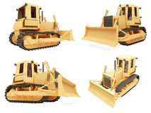 Collage of isolated construction vehicle. Isolated collection of construction vehicle over white background Royalty Free Stock Photography