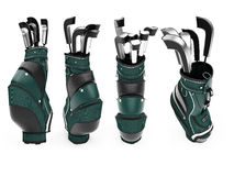 Collage of isolated golf bag Stock Image