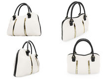 Collage of isolated handbags Stock Photo