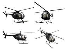 Collage of isolated helicopter Stock Image