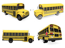 Collage of isolated school bus Stock Image