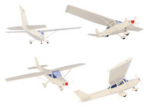 Collage of isolated small airplane Royalty Free Stock Photo