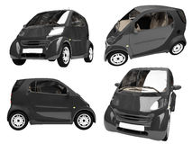 Collage of isolated small car Stock Image