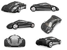 Collage of isolated sport car Royalty Free Stock Photography