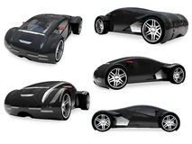 Collage of isolated supreme concept car Royalty Free Stock Photos
