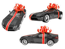Collage of isolated surprise car Stock Images