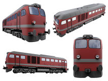 Collage of isolated train Stock Photo