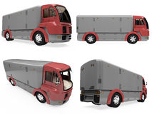 Collage of isolated truck Royalty Free Stock Photography