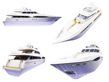 collage isolerad yacht vektor illustrationer