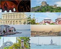 Collage of Istanbul Turkey images Royalty Free Stock Image