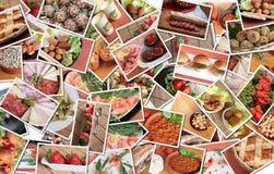 Collage italiano del alimento fotos de archivo