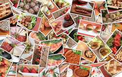 Collage italiano dell'alimento Fotografie Stock