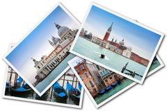 collage italy venice Royaltyfri Foto