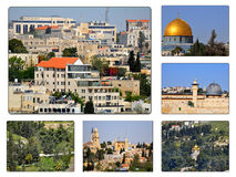 collage jerusalem Royaltyfri Bild