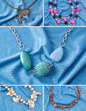 Collage jewelry photos Stock Images
