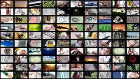 Collage 8K UltraHD des unterschiedlichen Videos stock footage