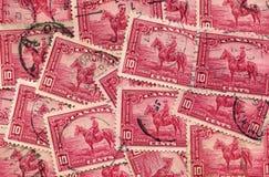 Collage kanadischen Stempels 1935 des Mountie Stockbild