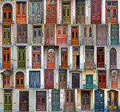 Collage of Kiev front doors Stock Images