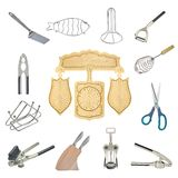 A collage of kitchen tools Royalty Free Stock Image