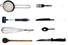 Collage of kitchen utensils Stock Photo