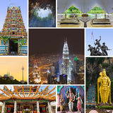 Collage of Kuala Lumpur (Malaysia) images Stock Images