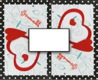 Collage, la clé à votre coeur Images stock