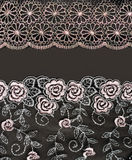 Collage lace with pattern in the manner of flower. Picture is formed from several photographies Stock Photos